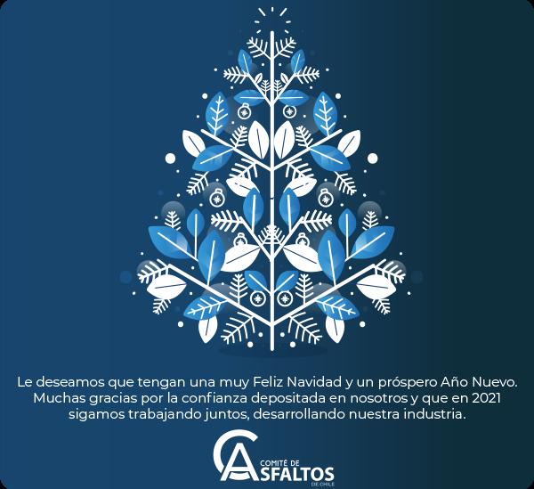Felices Fiestas les desea el Comité de Asfaltos de Chile