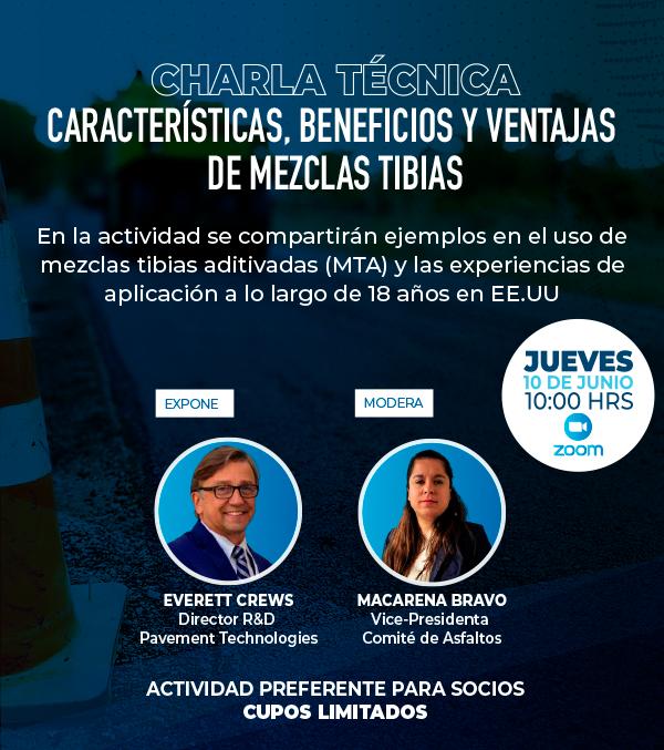 """Participa del Encuentro Técnico Online """"Características, beneficios y ventajas de mezclas tibias"""""""